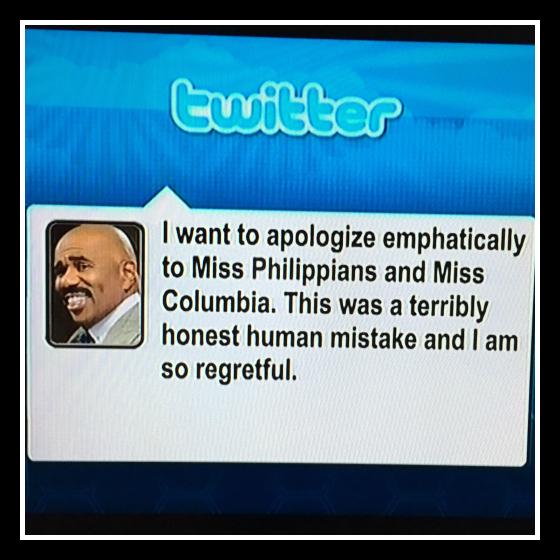 Steve Harvey borró el mensaje de su cuenta de Twitter segundos después de haber hecho el posteo.